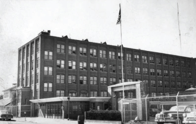 An undated photo of the Connecticut Telephone & Electric Corporation building on Britannia Street in Meriden. | Record-Journal Archives