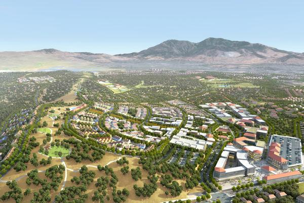 A rendering of Lennar Urban's Concord redevelopment proposal. The Concord City Council has selected Lennar Urban and Catellus Development Corp. as the two finalists to redevelop the city's former naval base.