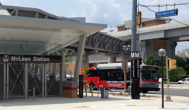 The McLean station of Metro's Silver Line on June 23 in McLean, Virginia.