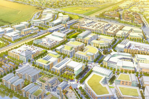 As Silicon Valley sprawls out of the confines of the South Bay, business advocates and city planners in the East Bay's Tri-Valley region are angling to leverage transit, housing and sophisticated federal laboratories to grow the local tech industry. Here, a rendering of a proposed transit-oriented development area in Livermore, should the city win a controversial extension of Bay Area Rapid Transit (BART).